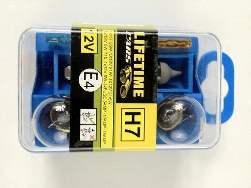 8 tlg. H7 ERSATZLAMPEN SET PKW Lampen Auto Ersatzbirnen Birnen KFZ Sicherungen