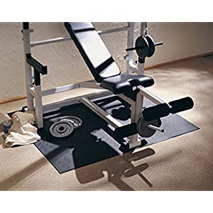 """SuperMats High Density Commercial Grade Solid Equipment Mat 24GS Made in U.S.A. for Home Gyms CrossFit Training Flooring Weight Benches, Weightlifting Equipment and General Flooring and Equipment Mat Needs (4 Feet x 6 Feet) (48"""" x 72"""") (121.9 cm x 182.9 cm)"""