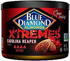 Blue Diamond Almonds XTREMES Carolina Reaper Flavored Almonds, 6 Ounce