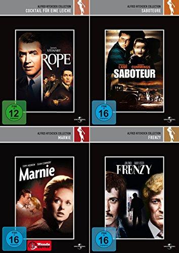 Alfred Hitchcock Collection   Marnie + Frenzy + Saboteure + Cocktail für eine Leiche [4er DVD-Set]
