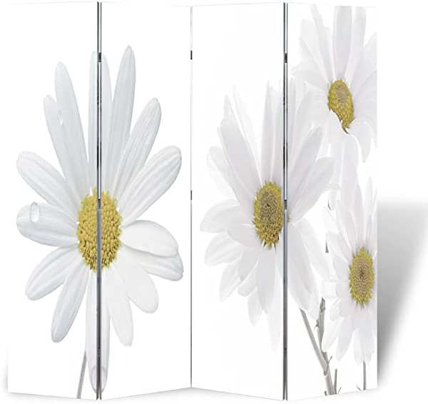 Canditree Room Divider 4 Panel Room Privacy Screen Folding 63 X 70 9