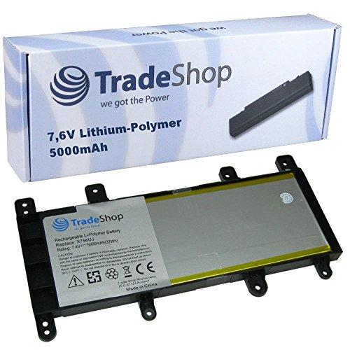 Trade-Shop Premium Li-Polymer Akku, 7,4V/7,6V/5000mAh/37Wh ersetzt Asus 0B200-01800100, C21N1515, C21-N1515 für Asus X756 Serie X756UA, X756UB, X756UF, X756UJ, X756UQ, X756UV, X756UW, X756UX