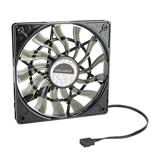 Zunate Ventilador de refrigeración de CPU, Ventilador de refrigeración Ultra silencioso de 12 V y 4 Pines, radiador de chasis de Enfriador de CPU para computadora de Escritorio, 120 x 120 mm