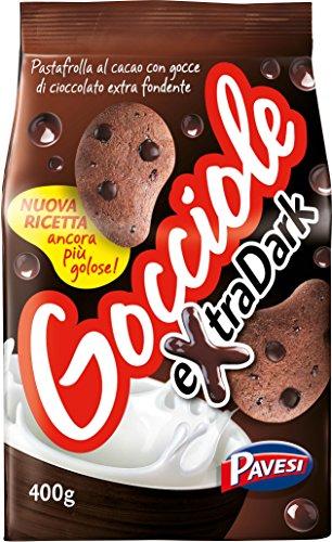 6x Pavesi Kekse Gocciole mit Kakao Extra Dark 400g kuchen cookies biscuits
