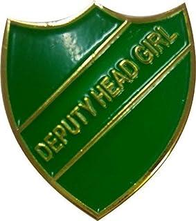 Deputy Head Girl badge Taille plus grande 33mm x 30mm Livraison gratuite