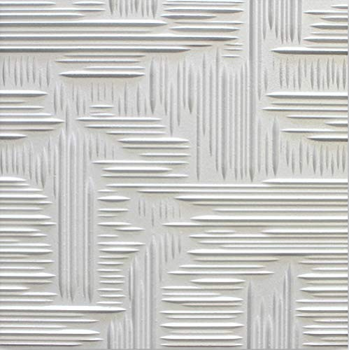 Azulejos de techo de poliestireno Norma 2 ( paquete de 80 pc / 20 metros cuadrados ) Blanco