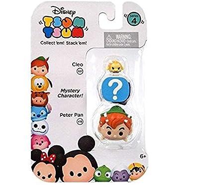 "Disney Tsum Tsum Series 4 Cleo & Peter Pan 1"" Minifigure 3-Pack"