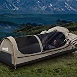 Mountview Double Swag Camping Swags Canvas Dome Tent Hiking Mattress Grey Double Double