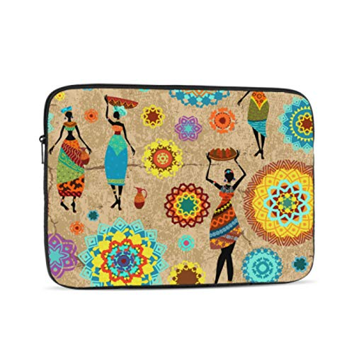Laptop Case Colorful Fashion Art African Women Cover for Laptop Multi-Color & Size Choices10/12/13/15/17 Inch Computer Tablet Briefcase Carrying Bag