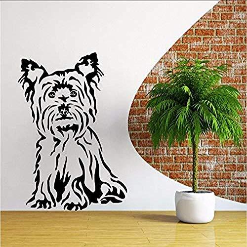 Etiqueta engomada Animal lindo Decoración de la pared Pegatinas de pared Perro Vinilo Arte de la pared Etiqueta de la habitación Calcomanía Papel pintado temático animal canino If 85 X 58 Cm