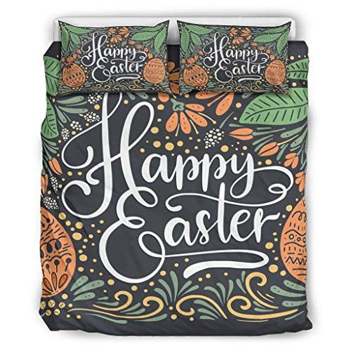 WOSITON Bedding Easter Comfort Categories - Juego de almohadas decorativas para cama (228,6 x 228,6 cm), color gris