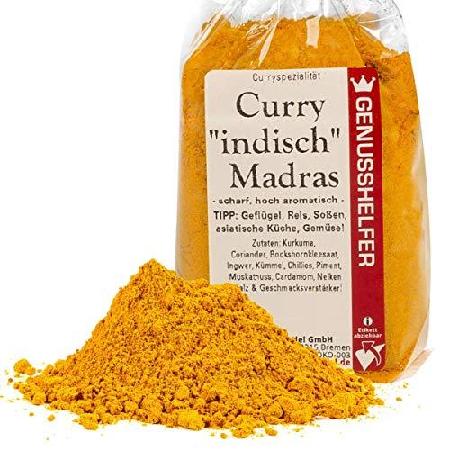 Curry Indisch Madras Gewürzmischung 100 Gramm hoch aromatisch, ohne Zusatzstoffe & ohne Geschmacksverstärker - Bremer Gewürzhandel