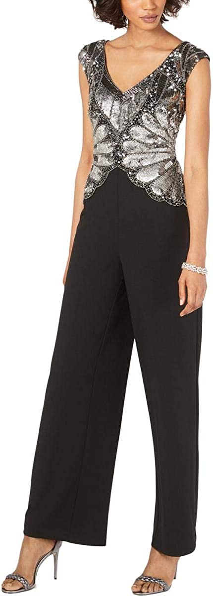 Adrianna Papell Women's Beaded Jumpsuit Max 56% OFF Long Super sale