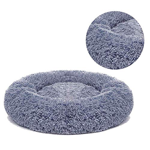 Dayoumi Orthopedic Dog Bed Comfortable Donut Cuddler Round Dog Bed Ultra Soft Washable Dog and Cat Cushion Bed Best Friends(23''/30'') (S(23''x 23''), Gray)