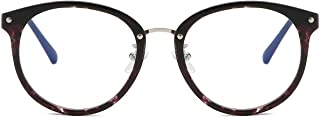 SOJOS Round Anti Blue Light Blocking Glasses Women Computer Eyeglasses Ashley