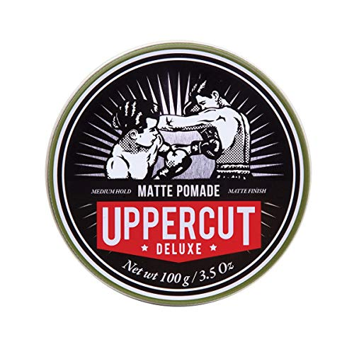 Uppercut Deluxe Matte Pomade Hair Styling Product For Men With A Medium Hold, No Shine Water Based Matte Hair Styling Product Easy Wash Out, No Residue 100g