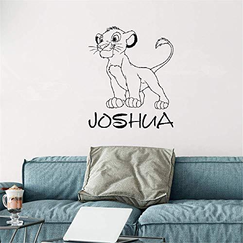 stickers muraux 3d stickers muraux chambre Autocollant personnalisé nommé Roi Roi Lion par Simba pour la chambre de bébé de chambre d'enfants de garçons
