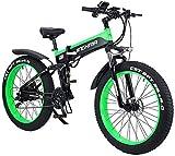 Leifeng Tower Alta Velocidad Bicicletas eléctricas rápidas for Adultos 1000W Bicicleta eléctrica, Plegable Bicicleta de montaña, Fat Tire 48V 12.8AH