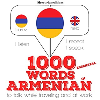 1000 essential words in Armenian cover art
