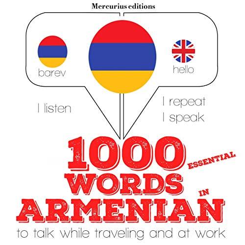 1000 essential words in Armenian audiobook cover art