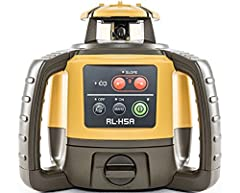 """Range up to 2,600 feet with receiver Accuracy of ±1/16"""" or 1/8"""" at 100 feet Optional manual single-axis leveling method Laser Class-II; Laser Type-635nm,"""