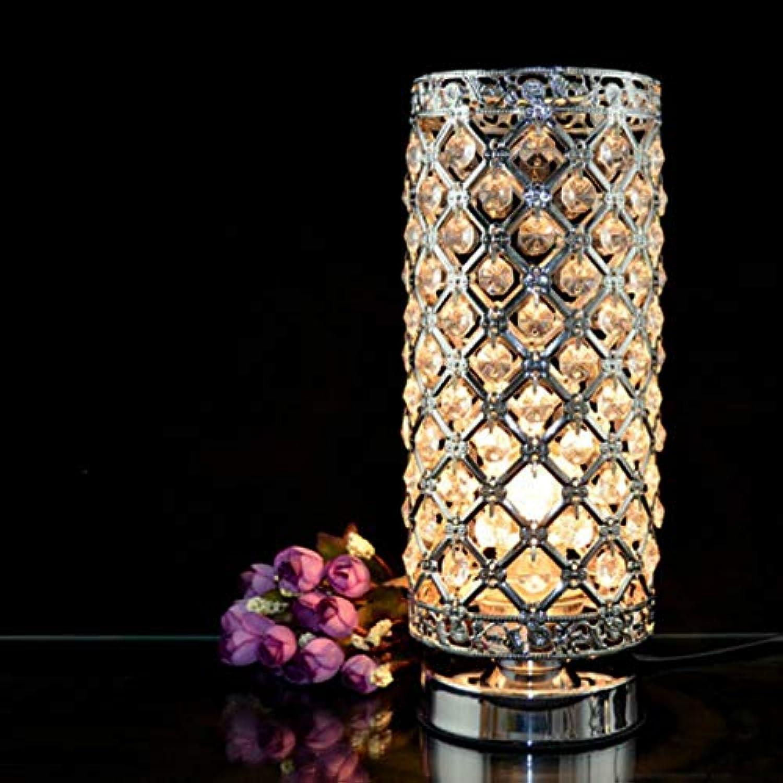 Lámpara de mesa moderna de hierro forjado dormitorio de cristal transparente cromo hierro forjado lámpara hueca decoración del hogar iluminación