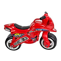 This ride-on motorcycle is composed of lightweight and Durableplastic body, - Up to 66 pounds weight capacity. Motorcycle is smooth and simple to ride for your toddler or young child. Perfect Gift for Toddlers and Kids 2-5 Years Old - Both for Indoor...