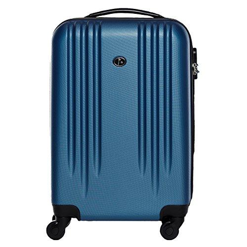 FERGÉ Trolley bagaglio a mano MARSIGLIA - Valigia rigida 55x35x22 cm valigetta bagaglio cabina 4...