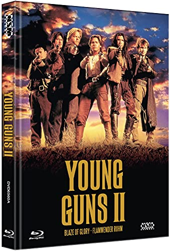 Young Guns 2 - Blaze of Glory [Blu-Ray+DVD] - uncut - limitiertes Mediabook Cover A