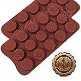 Marijuana Leaf Embossed Silicone Chocolate Candy Mold Ice Cube Trays, 2 Pack