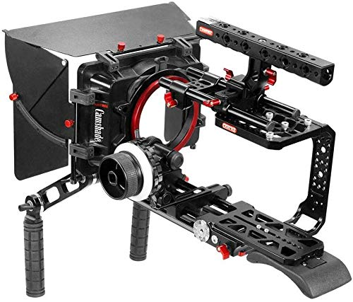 CAMTREE Hunt Professional Shoulder Mount Cage Kit for Blackmagic URSA Mini 4K/ Pro 4.6K | Matte Box, Follow Focus with Top Handle Cage + Dovetail Plate for Quick Tripod Mounting (CH-BMUM-SK)