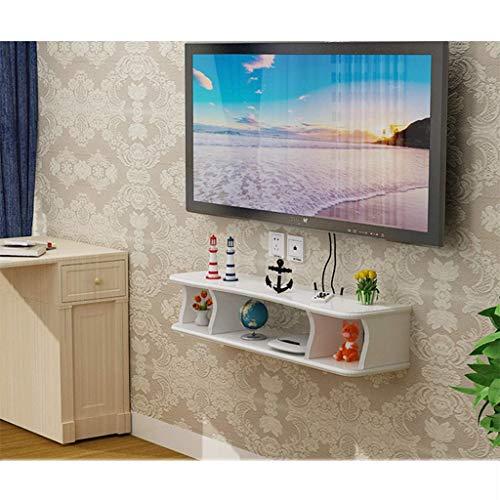 Wand- Tv-Ständer Media Console Für Wireless-Lan-Router Tv-Box Set-Top-Box Lautsprecher Streaming Device-Spiel-Maschine Floating-Wandhalterung Regal gfsddssxsz/Weiß / 100cm