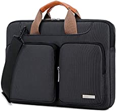 Lacdo 360° Protective Laptop Shoulder Bag Sleeve Case Compatible 13 Inch New MacBook Air | MacBook Pro Touch Bar 2016-2019 | Surface Book | MacBook Pro Retina 2012-2015 | HP Acer Notebook, Black