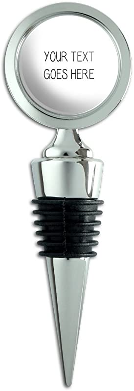 Graphics And More Personalized Custom White Background Any Occasion Wine Bottle Stopper