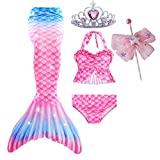 Mermaid Tails for Swimming Swimsuit Costume, Bathing...