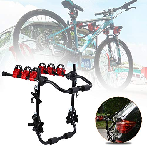 Honhill Portabicicletas Trasero Portón Plegable para 3 Bicis Soporte Bicicletas Universal Porta...