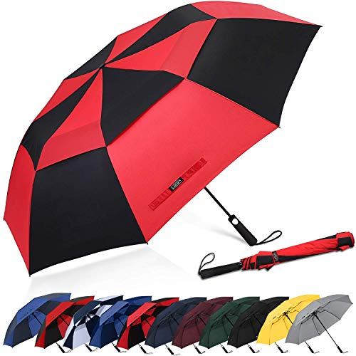 G4Free 62inch Compact Travel Golf Paraplu Automatische Open Grote Oversized Geventileerde Dubbele Luifel Winddichte Sport Paraplu's