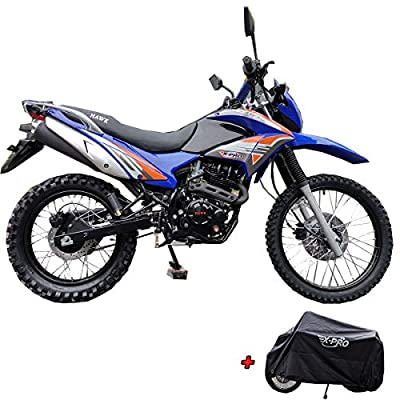 X-PRO Hawk 250 Dirt Bike Motorcycle Bike Dirt Bike Enduro Street Bike Motorcycle Bike with Cover, Bluetooth Speaker and Phone Bracket! (Blue) by X-Pro