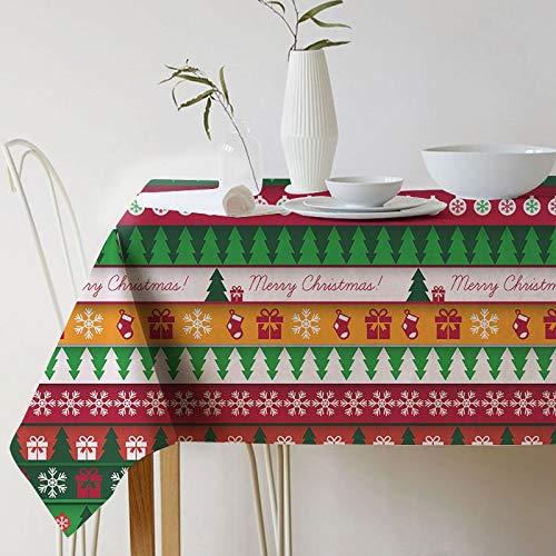 XXDD Mantel de Navidad de Mesa Mantel de Flores de Planta de Acuarela Impermeable y a Prueba de Polvo decoración del hogar Mantel de Tela A5 150x210cm
