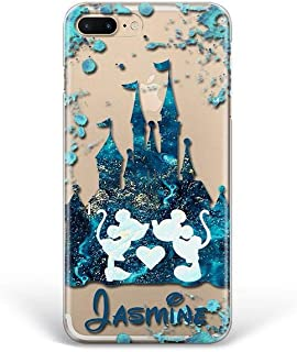 Kaidan Mickey and Minnie iPhone 11 Pro Max Case SE XS X XR 6 7 8 Plus Custom Name Samsung Galaxy S10 Magic Castle S8 S9 Plus A70 A50 Mouse Love Note 9 8 10 Pro Google Pixel 3A 2 XL LG G8s G7 G6 apP33