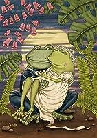 番号でペイント_動物のカエルの芸術_数字キットによる絵画手塗り_クリスマスプレゼント キッズバースデーギフト30x40cm_(フレームレス)