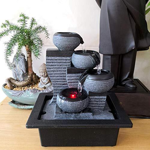 Fuente de agua de mesa, Zen Small Rockery Desktop Mute Mountain Cascadas...