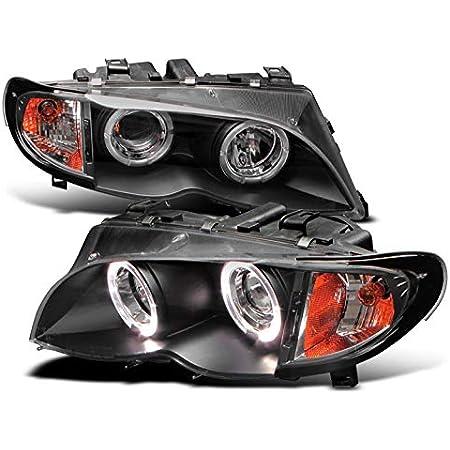 2001-2006 BMW E46 M3 New Euro Chrome Halo Angel Eyes Projector Headlight LH+RH