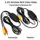 Creacom Trasmettitore Video a Colori Wireless 2.4G Trasmettitore e Ricevitore Video a Colori Wireless RCA Telecamere di Backup per Veicoli Monitor per retrovisione Auto
