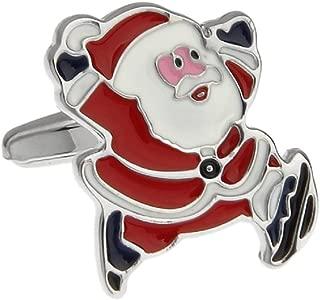 MRCUFF Santa Claus Christmas Presentation Gift Box Pair Cufflinks & Polishing Cloth
