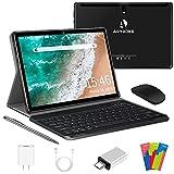 Tablet 10 Pulgadas4G LTE WiFi,Android 10.0 Ultrar-Rápido Tablets 4GB RAM + 64GB ROM/128GB Escalable,Laptop Convertible de Oficina - Quad Core, Dual SIM 8000mAh Bluetooth GPS OTG Type-C (Negro)