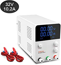 DC Power Supply Variable, Eventek 0-32V 0-10.2A Power Supply Adjustable Regulated Power Supply Digital with Alligator Leads US Power Cord
