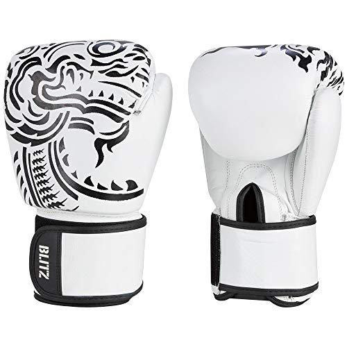 Blitz Firepower Muay Thai Boxhandschuhe, weiß, 283,5 g (10 oz)