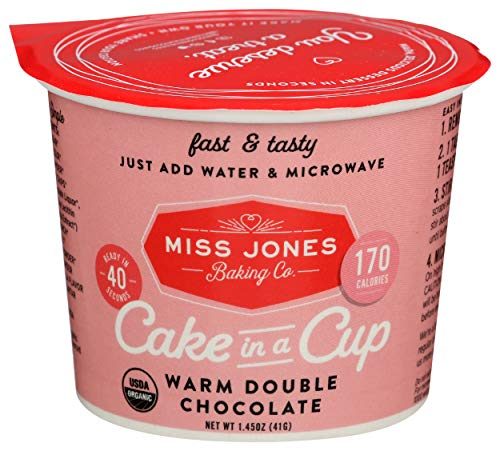 MISS JONES BAKING CO Organic Warm Double Chocolate Cake in a Cup, 1.45 OZ