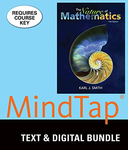 Bundle: Nature of Mathematics, Loose-leaf Version, 13th + MindTap Math, 1 term (6 months) Printed Access Card
